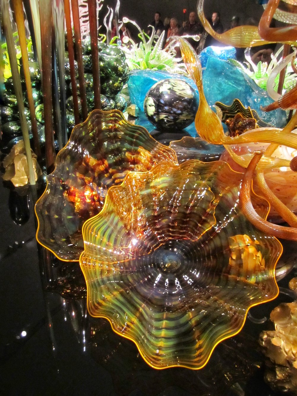 Detail from Chihuly's  Laguna Torcello  installation at the ROM