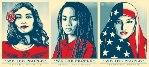 Shepard Fairey's Inauguration posters