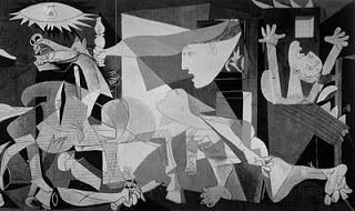 There are many levels of allegory and symbolism in the content of Picasso' s famous Guernica (1937)