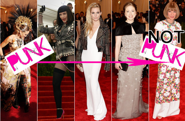 The debates around punk generated by the Met Ball opening were decidedly superficial. Image:  Fashionista.com