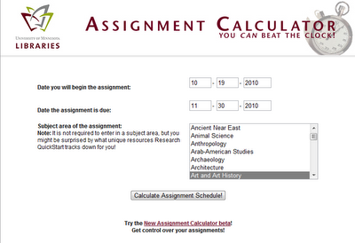 A fantastic and useful online tool to calculate the time you need to complete a research assignment without the stress and headache of procrastination