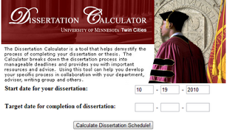 For Masters and PhD students, the Dissertation Calculatorprovides some direction over the long haul