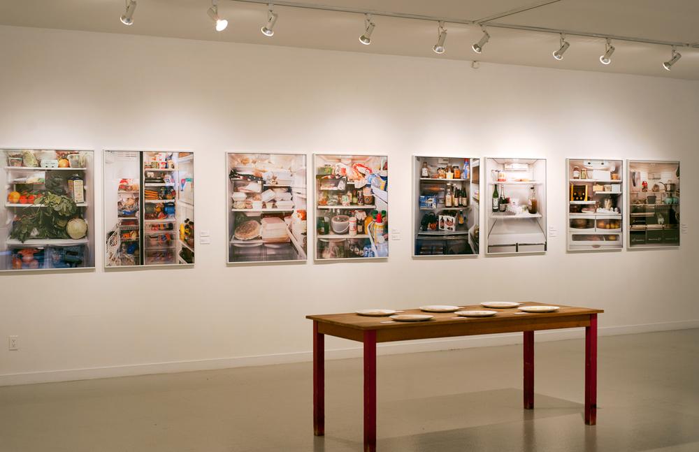 """Mark Menjivar (San Antonio, TX),Installation view of series """"You are What You Eat"""" (2008 & 2012). Photo courtesy of freepresshouston.com"""