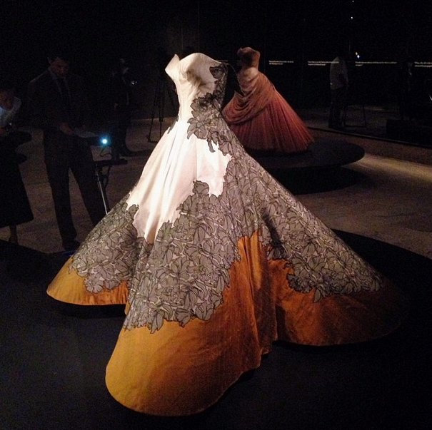 "The Met Costume Institute provided several looks inside the Charles James exhibition  via Instragram  on the night of the Met Ball.  ""Charles James: Beyond Fashion"" continues through August 10th at the Metropolitan Musueum of Art."