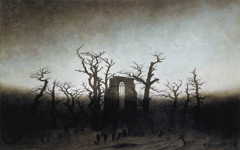 Caspar David Friedrich, The Abbey in the Oakwood (1809-1810)