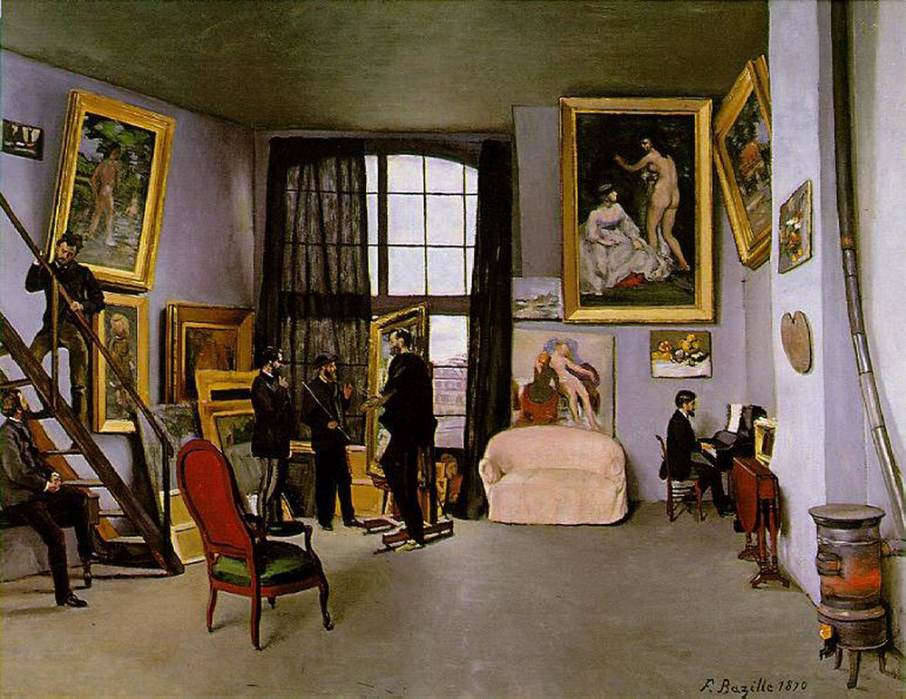 Frederic Bazille,  Bazille's Studio (1870)