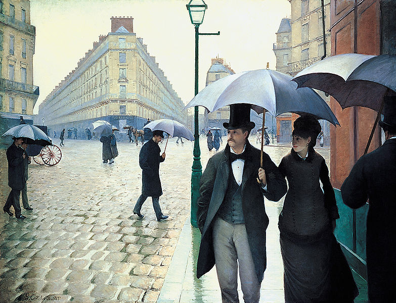 Gustave Caillebotte,  Rainy Day, Paris  (1877)