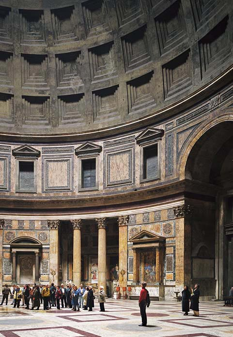 Thomas Struth,   Pantheon, Rome   (detail), (1990)