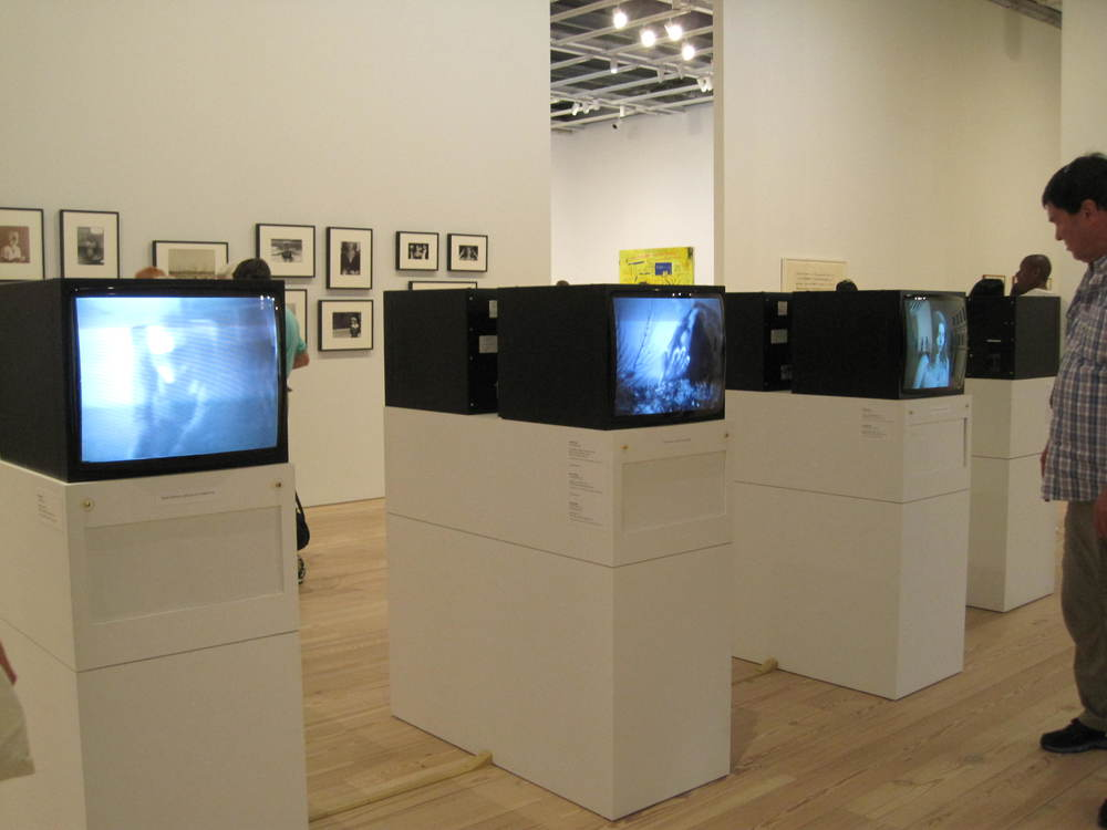 Video art is not an easy art form to curate at an art gallery-- Eric found many limitations in the way Acconci was presented both at the MoMA and the Whitney Museums.