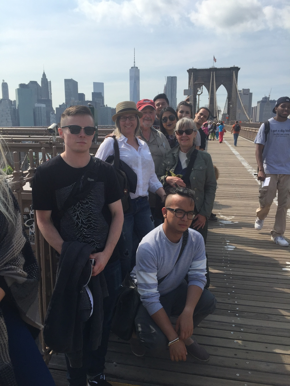 Walking the Brooklyn Bridge was a fantastic opportunity to take in another perspective of the Brooklyn and Manhattan skyline. Eric at the very front of the group.