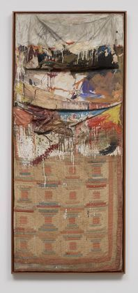 Cody was assigned Robert Rauschenberg's The  Bed  (1955) from the MoMA collection.