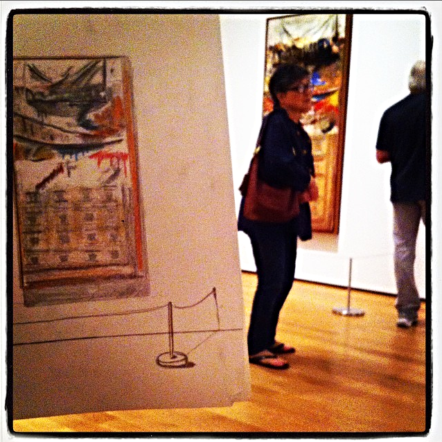As one of his studio assignments while in New York,Cody sketchesThe Bedwhile at MoMA and photographsa side by side shot, later to be uploaded to the class's Instagram feed.