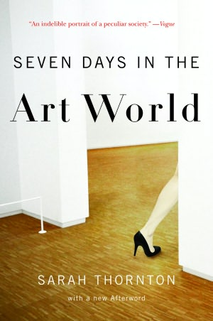 Sarah Thornton's book was one of the books that was assigned for reading in the pre-departure classes. Her final chapter on the Venice Biennale is eye-opening and highly recommended.