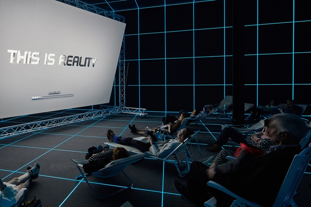 I first visited Hito Steyerl's dynamic multimedia installation in the German pavilion at the Venice Biennale this past summer-- an absolute crowd pleaser-- and it is now making its debut in North America at the MOCA in Los Angeles this spring.
