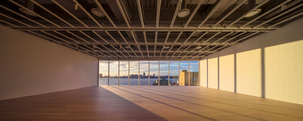 The fifth floor of the Whitney features over 18,000 square feet of open space and will be the home to Andrea Fraser's new site-specific work Down the River.
