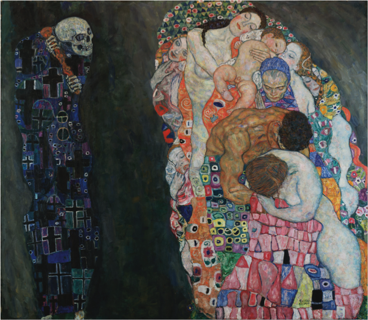 Gustav Klimt,  Life and Death  (1910)
