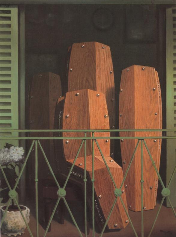 Rene Magritte, Manet's Balcony  (1950)