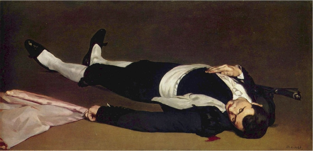 Edouard Manet,  The Death Toreador  (1864)