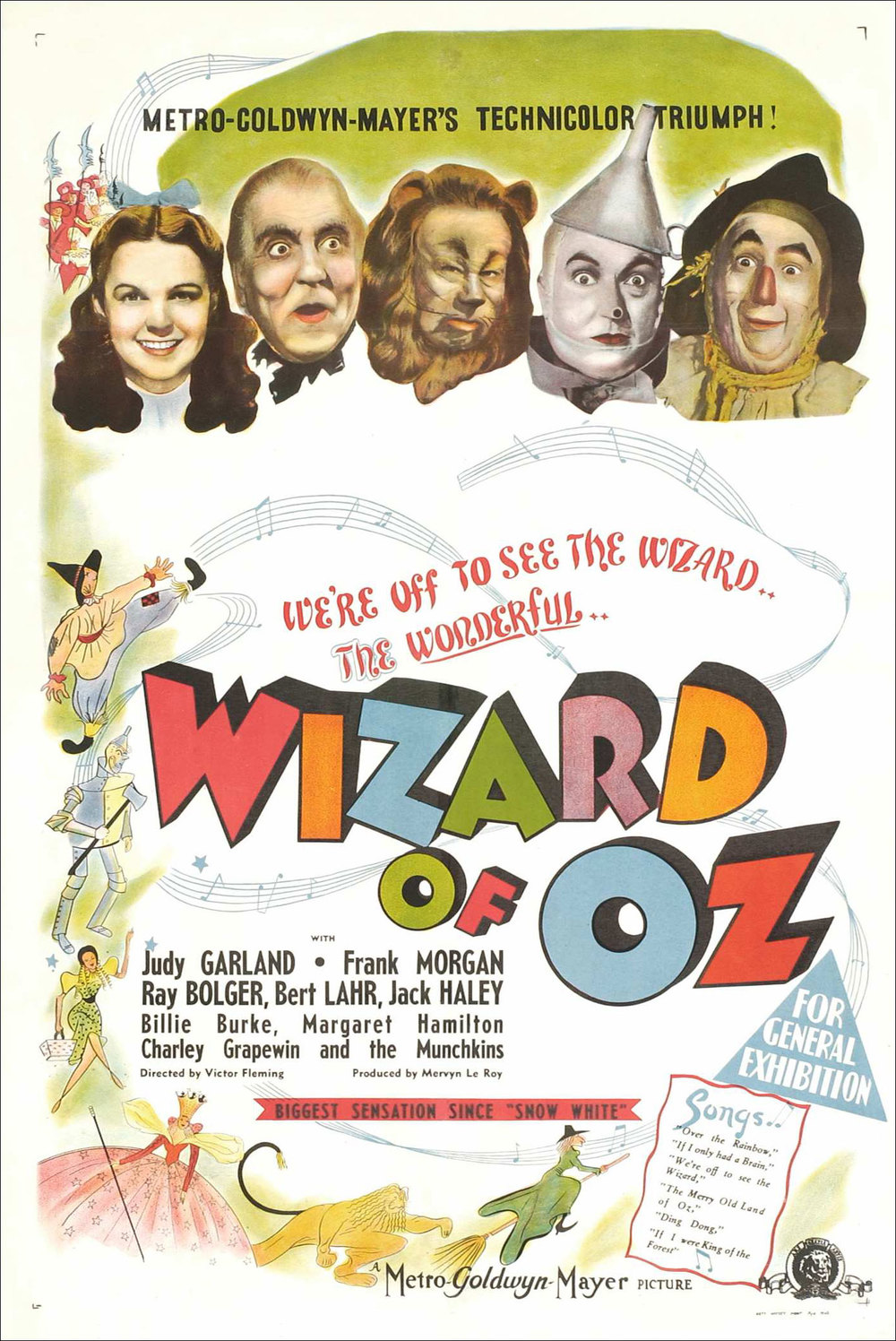 The Wizard of Oz, dir. Victor Fleming (1939) original movie poster.