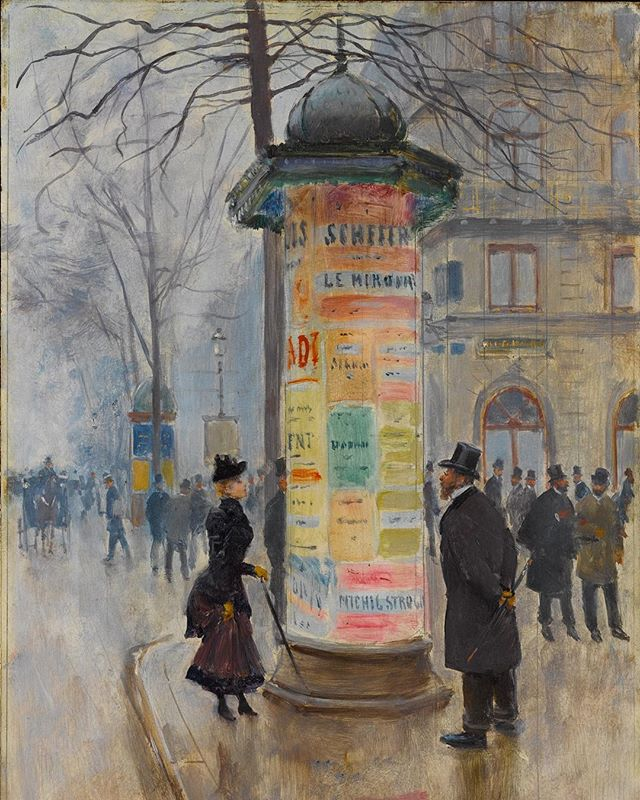 Jean Béraud,  Parisian Street Scene ( 1885)  via Met Museum's Instagram feed  this week.
