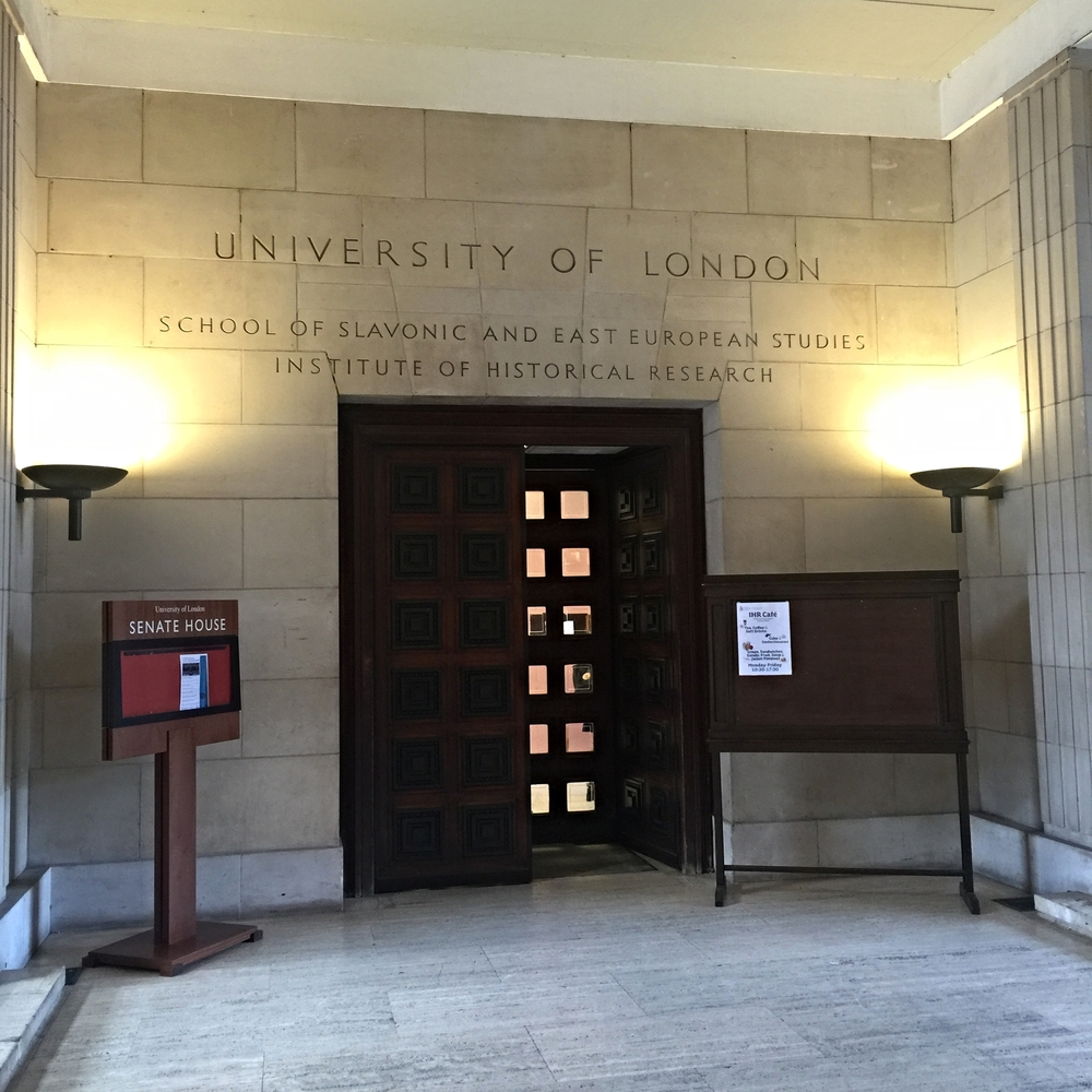 The somewhat imposing door and entrance to the conference venue. So much tradition and history at this particular institution.