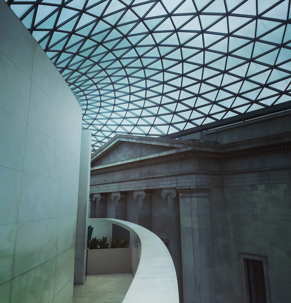 Architecture juxtapositions abound at the British Museum.