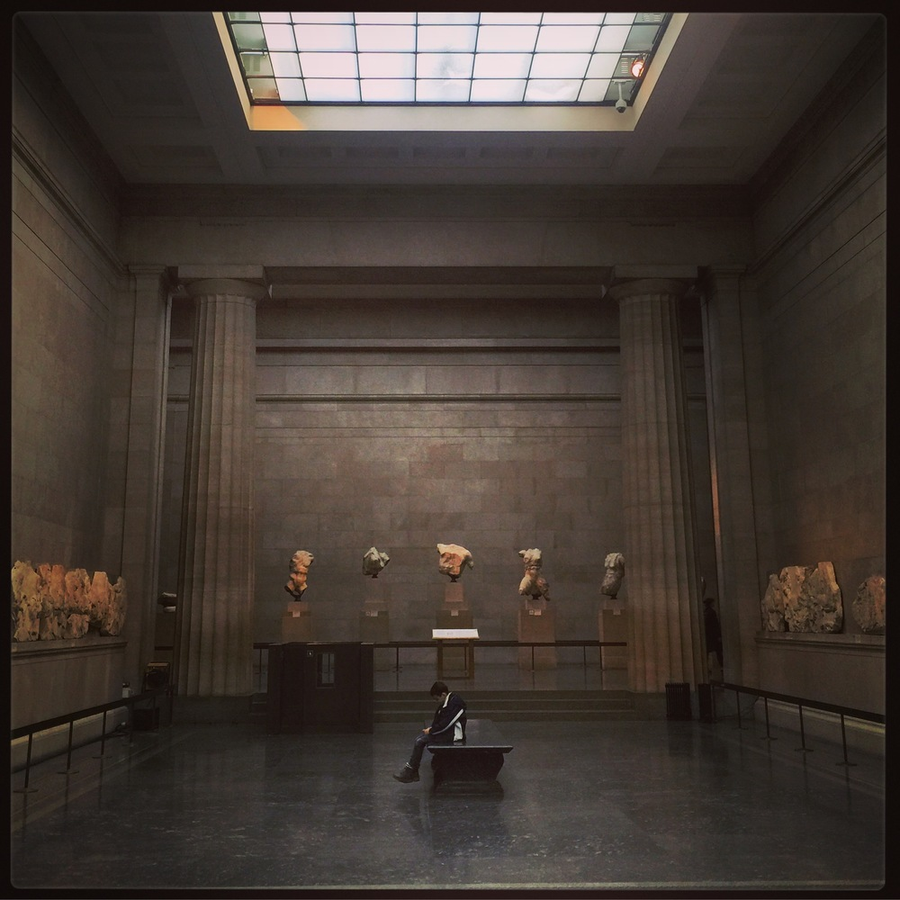 The quiet spaces of the Elgin marbles rooms was unexpected but very welcome.