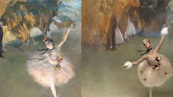 """""""Misty Copeland uses high fashion to flawlessly re-create Degas' ballerinas"""""""