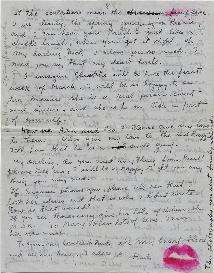 """""""Artists' Valentines: from Frida Kahlo's lipstick-kissed note to 'I do' – in pictures"""""""