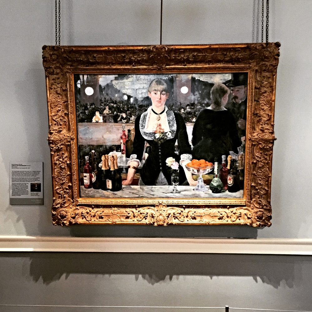 So much art historical energy and writing has gone into Manet's A Bar at the Folies-Bergère, painted and exhibited at the Paris Salon in 1882. When in its presence at the Courtauld Institute of Art in London, you cannot help but feel deeply impressed... and moved.