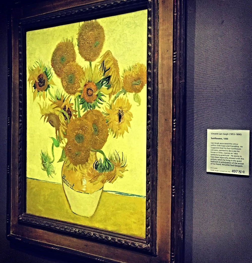 Vincent Van Gogh,  Sunflowers  (1888) at London's National Gallery. This is the resident celebrity of the museum.