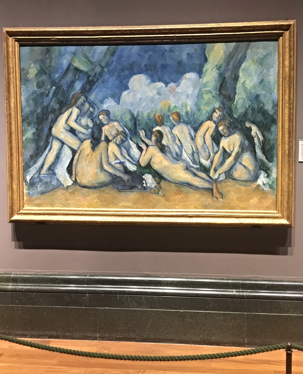 Paul Cezanne,  Bathers  (1884-1905). Stunning! Matisse carried a postcard picture of this painting as a young artist.