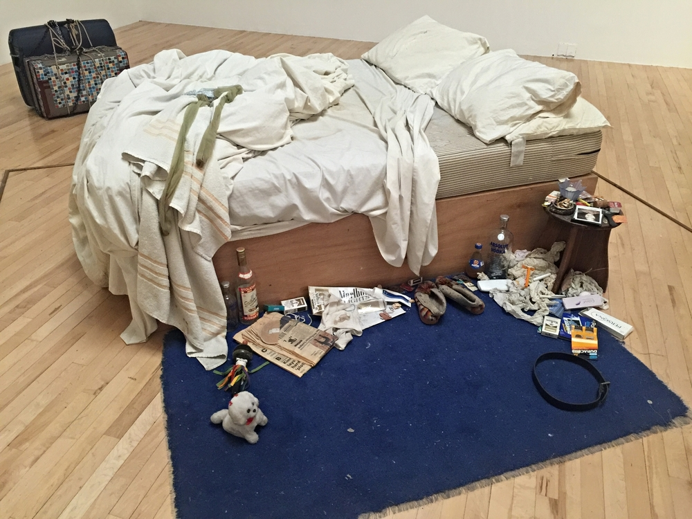 Tracey Emin,  My Bed  (1998). The details and arrangement of debris surrounding the bed captivated my attention, as did the smell of this most famous art installation.