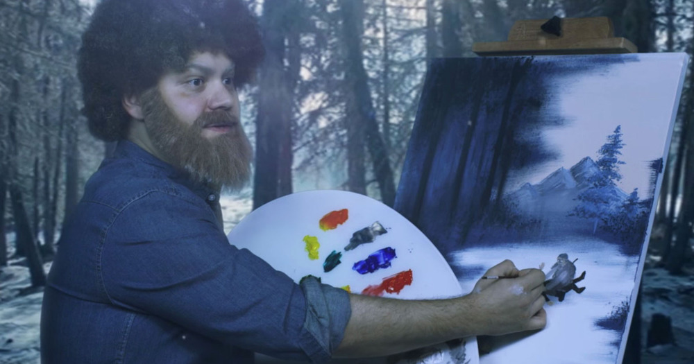 """Watch 'Bob Ross' Paint the Happy Little Blood-Soaked Winterscape of The Revenant"""