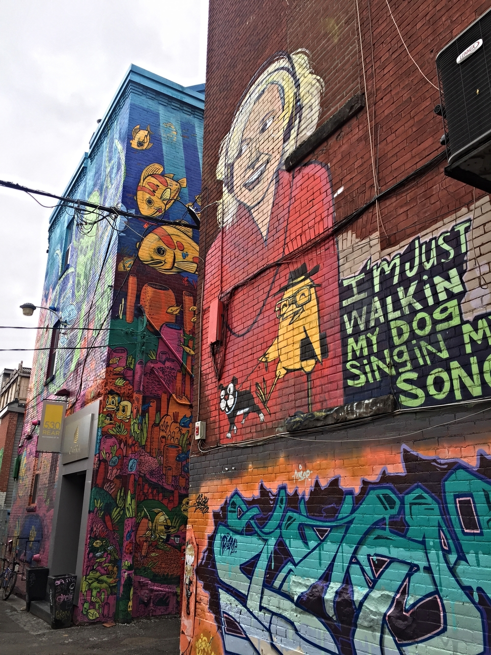 "The quantity and quality of street art in Toronto is fantastic-- I spent quite a bit of time checking out the area around Queen Street West dubbed ""Graffiti Alley"" by the locals."