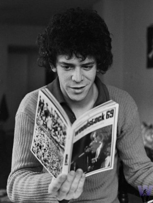 Joe Sia, Lou Reed Reading (1971). Experience Reed's famous song 'Walk On The Wild Side' phonetically replicated by Twitter usernames in one of my shared links this week.