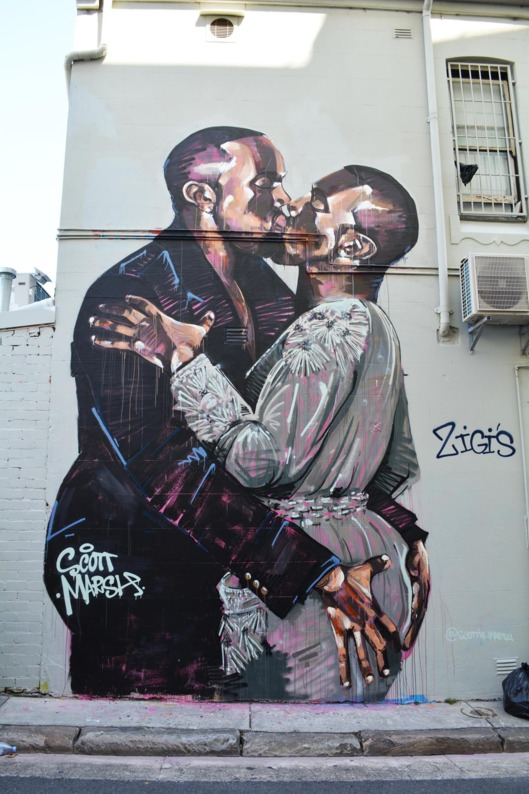 """You'll Love This Mural of Kanye Kissing Kanye Like Kanye Loves Kanye"""