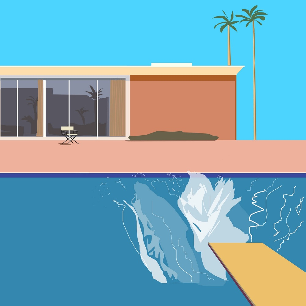 David Hockney,  A BIgger Splash  (1967)