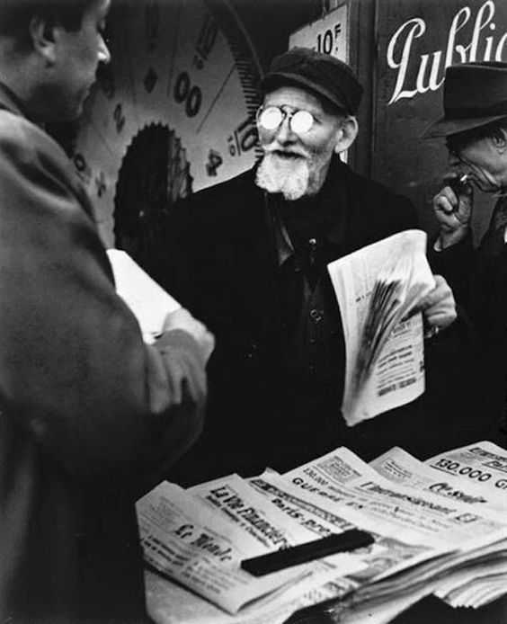 Brassaï (Gyula Halász) was born this week in 1899-- here is his photograph Newspaper Seller (1947) to help kickstart the beginning of a fresh academic year.