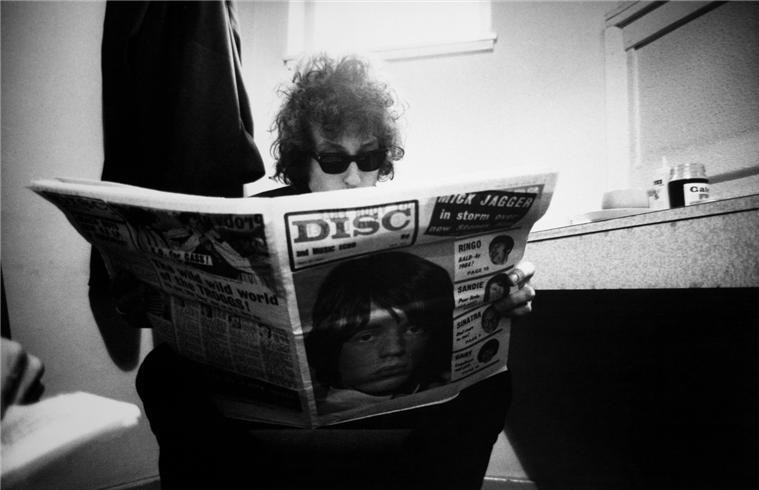 Barry Feinstein, Bob Dylan Birmingham England 1966