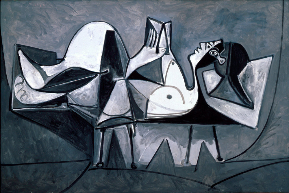 Pablo Picasso, Reclining Woman Reading (1969)