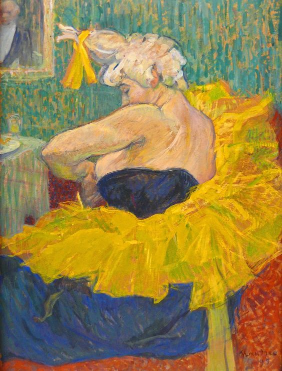 Ashley's assigned artwork, Henri de Tolouse-Lautrec,  The Clown Cha-U-Kao  (1895).