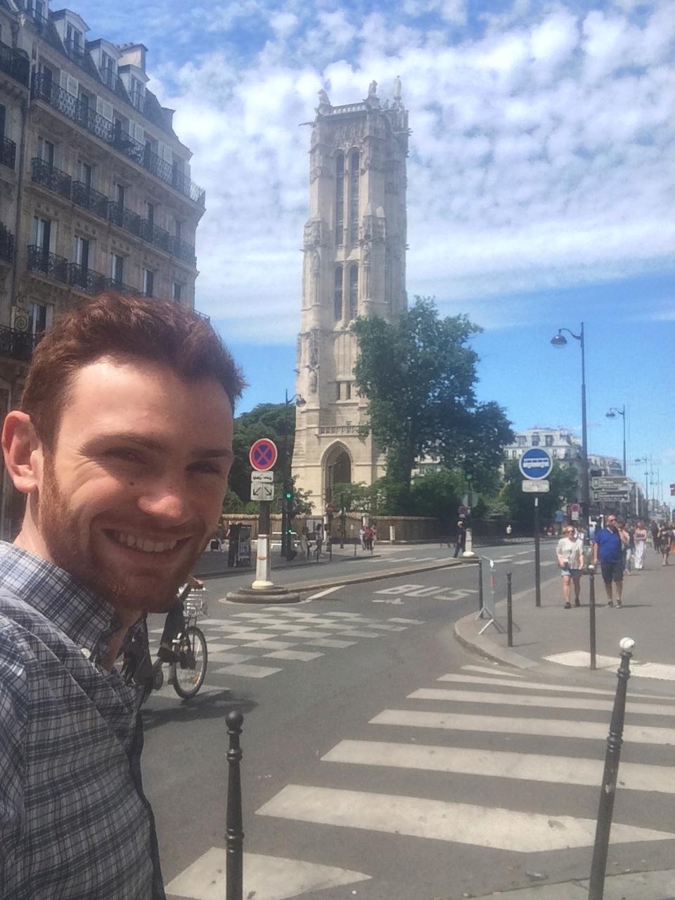 Graham, the eternal flaneur,walking in the heart of Paris.