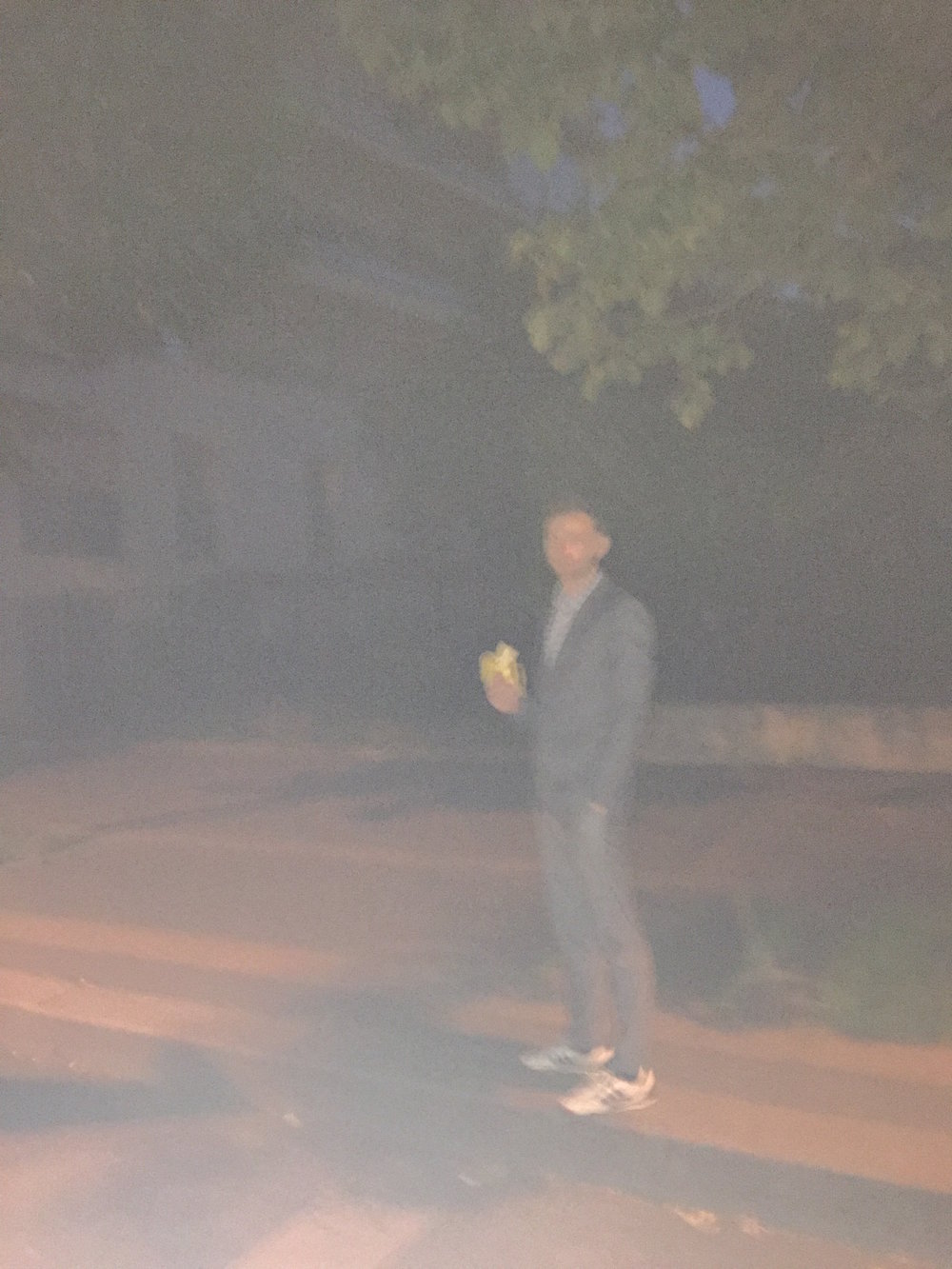 Graham collaborated in an Impressionist inspired photograph titled  The Banana Eater  taken by his roommate Lukas Paul.