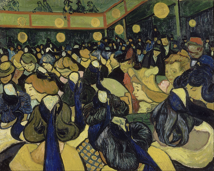 Kaila was assigned Vincent van Gogh's Dance Hall in Arles (1888) from the Orsay Museum.