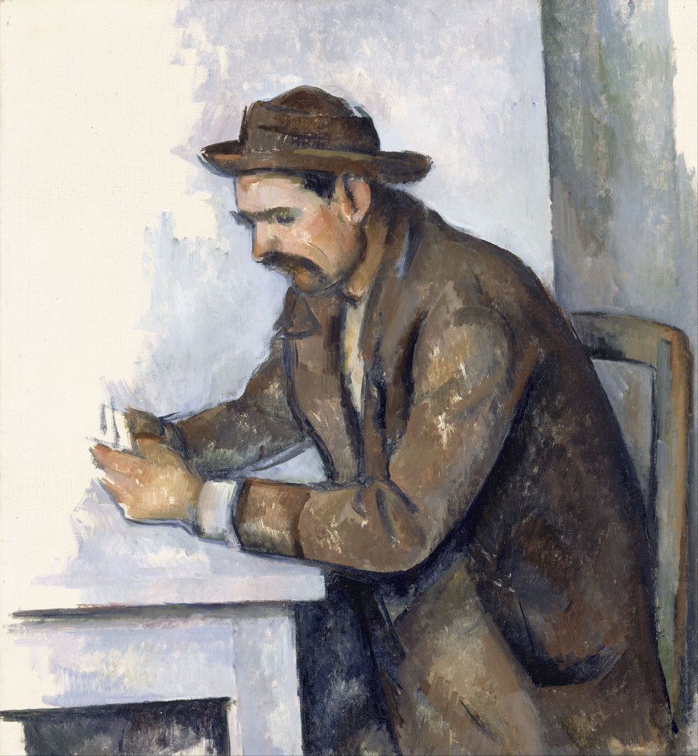 Cezanne, Card Player (1890-92) was Lukas' assigned work from the Orsay.