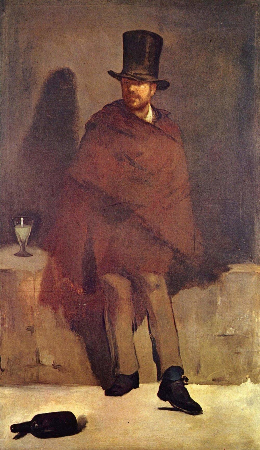 Edouard Manet, Absinthe Drinker  (1859)