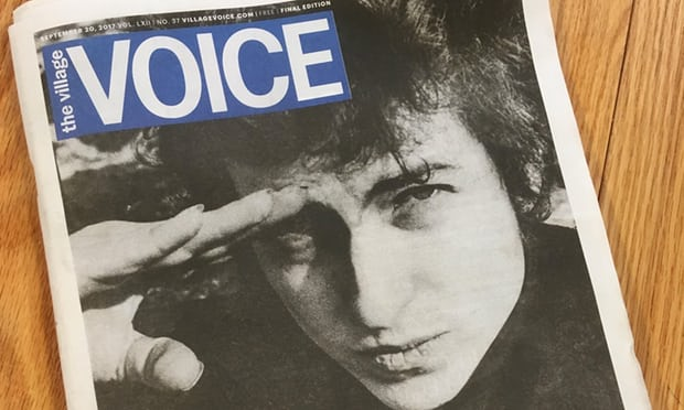 """The Village Voice prints its final edition – with Bob Dylan on the cover"""