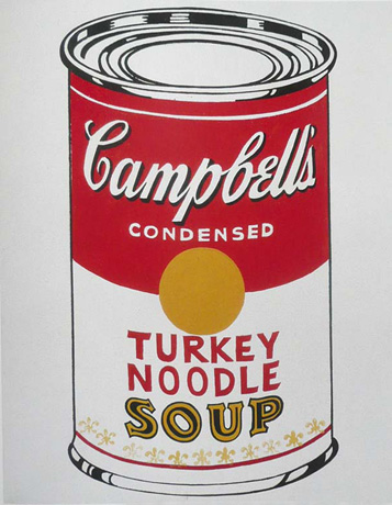 Andy Warhol,  Turkey Noodle Soup  (1962)