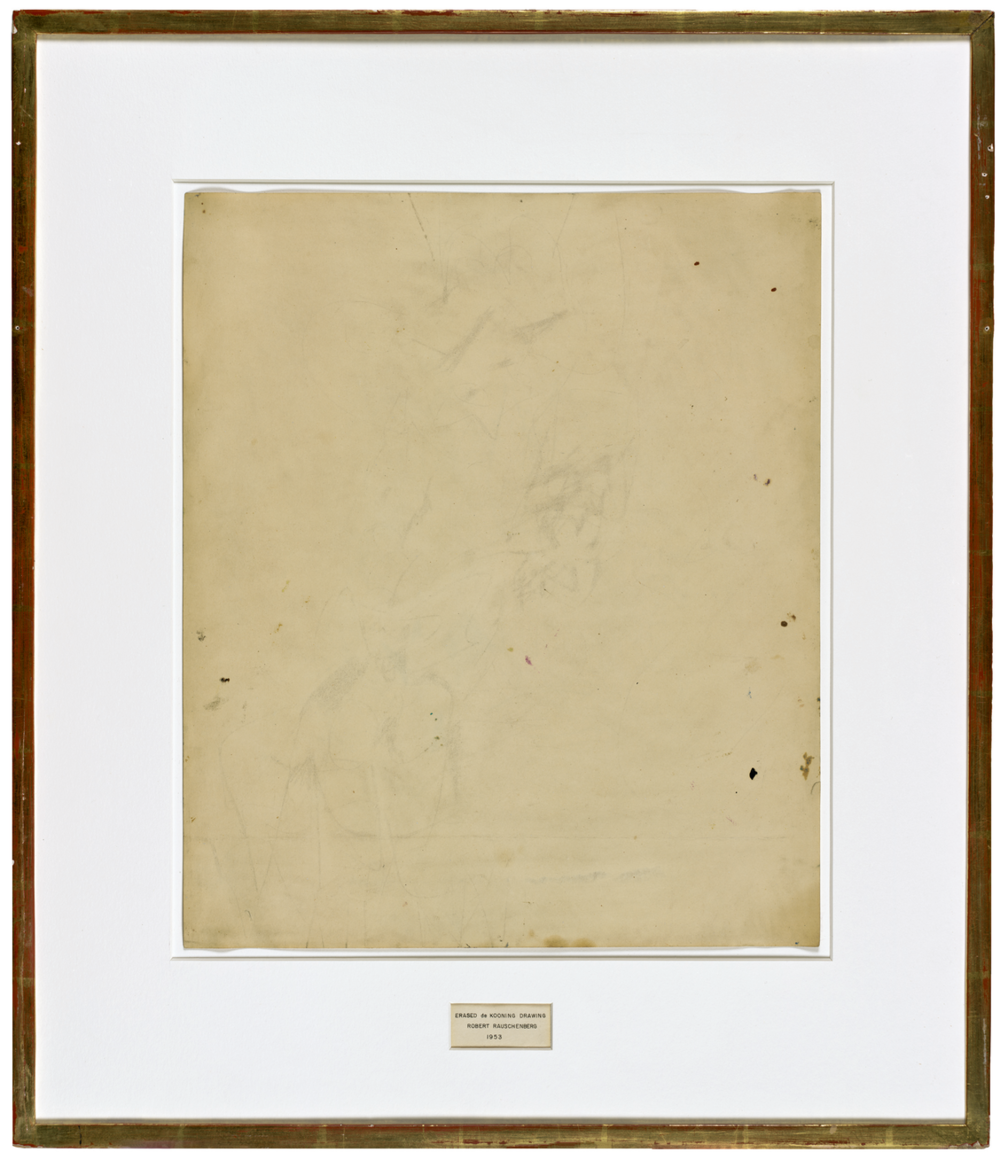 Robert Rauschenberg,  Erased de Kooning Drawing  (1953)